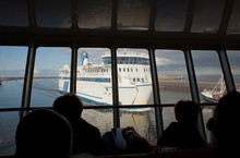 Ferry Entering The Harbor Of H...