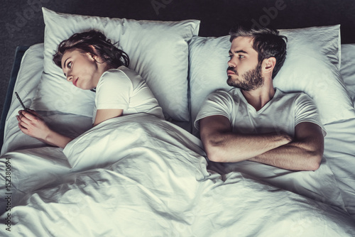 Couple in bedroom Fototapeta