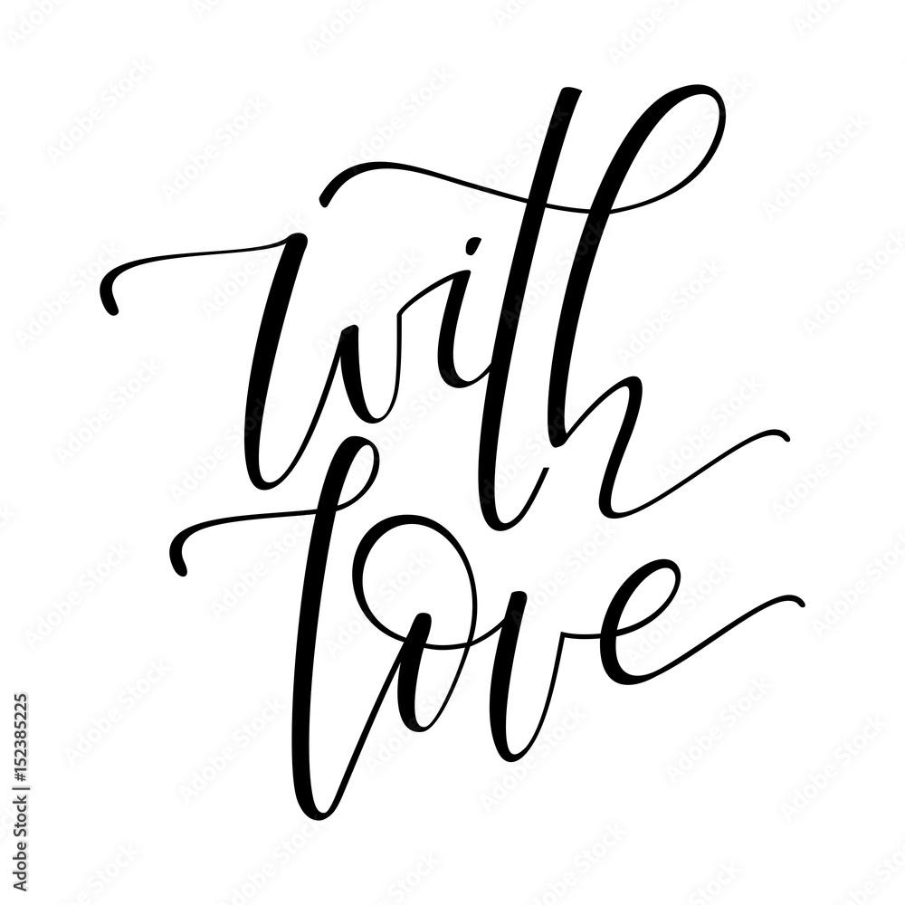 Fotografie, Obraz With love card