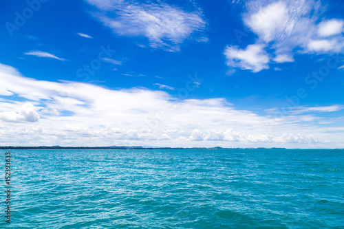 Aluminium Prints Green coral The summer travel sea, at sea beach Koh Samet Island Rayong park on white sand blue sky emerald green ocean water. space for texture