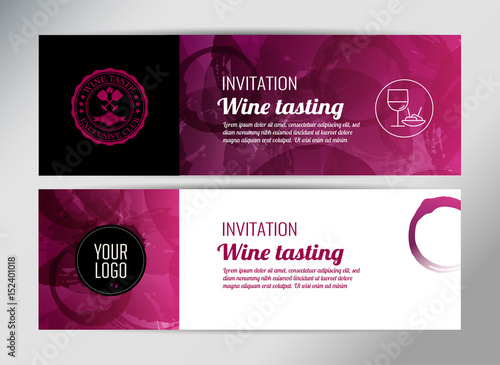 Banner template flyer or gift certificate for wine event or banner template flyer or gift certificate for wine event or promotion vector design yelopaper Gallery