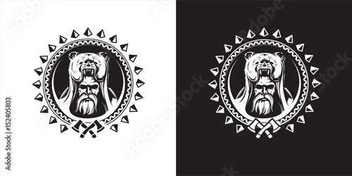 Warrior in scandinavian mythology Canvas Print