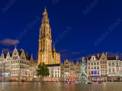 Poster Antwerp Grote Markt in Antwerp - Belgium