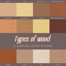 Set Of Wood Seamless Textures