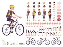 Male Cyclist Character Creatio...