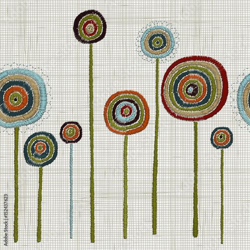 bezszwowy-wzor-z-kolorowa-obrecz-sztuka-recznie-haftowany-haft-o-fantastycznych-kwiatach-odwazne-szwy-kwiatowy-wystroj-domu-haftu-sciennego-sztuki-recznie-rysowane-gryzmoly-tkaniny-lniane-tekstury-wektor