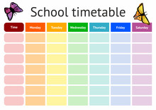 Vector School Timetable, Weekl...
