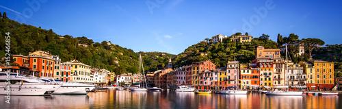 Stampa su Tela Postkartenpanorama von Portofino