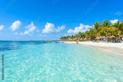 Canvas Prints Green coral Riviera Maya - paradise beaches in Quintana Roo, Cancun - Caribbean coast of Mexico