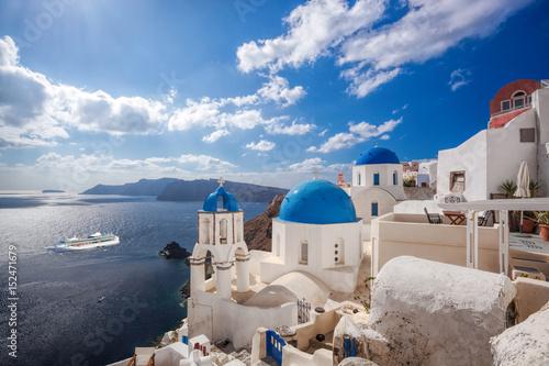 Fototapeta Beautiful Oia village on Santorini island in Greece obraz