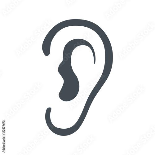 Fotografia, Obraz  Listen symbol isolated on white background