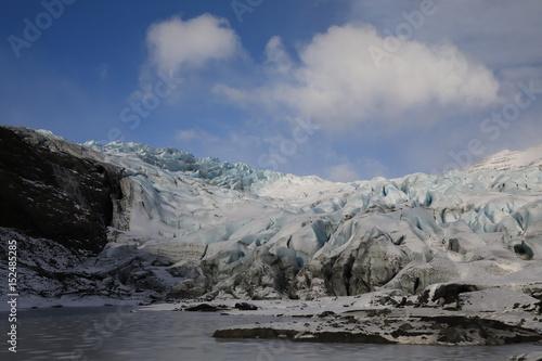 Foto op Plexiglas Arctica Fláajökull, glacier near Höfn in southeast Iceland