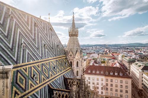Garden Poster Vienna Vienna Skyline with St. Stephen's Cathedral, Vienna, Austria