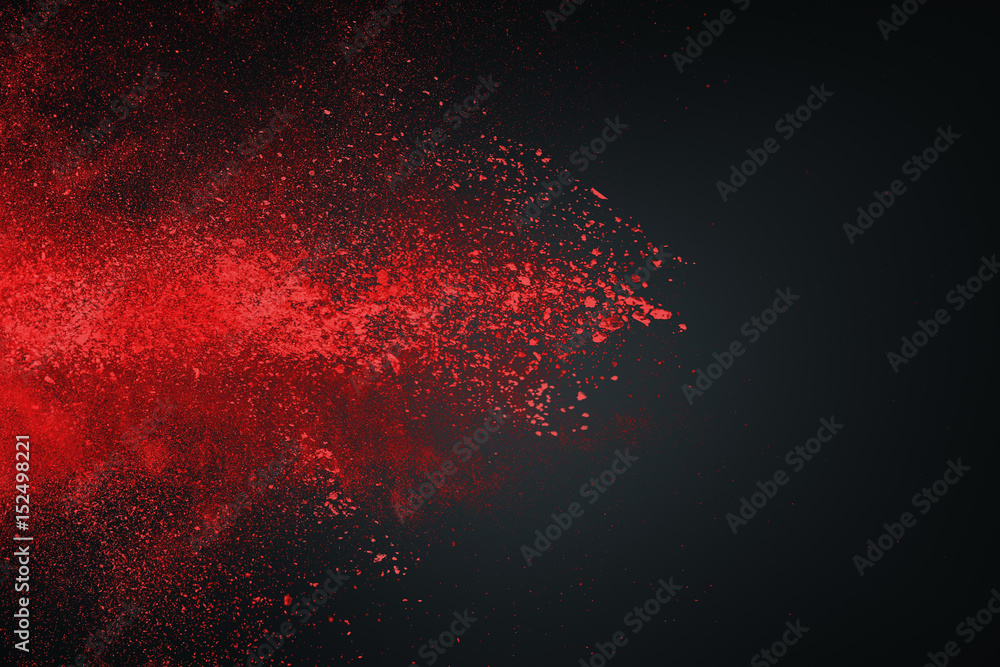 Fototapety, obrazy: Abstract white red against dark background