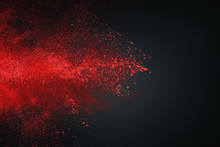 Abstract White Red Against Dark Background