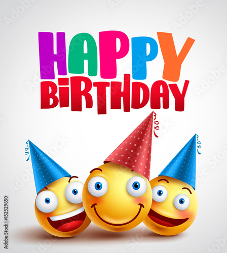 happy birthday smileys celebrant with happy friends funny. Black Bedroom Furniture Sets. Home Design Ideas