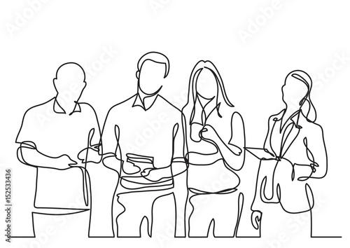 Fotografía  business team - continuous line drawing