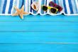 Summer beach background border