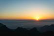 Beautiful sunrise at Mountain