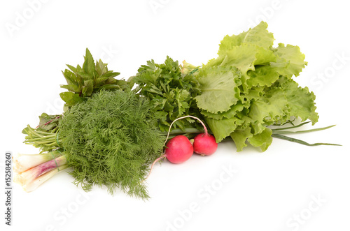 Valokuva  Vegetables on a white background