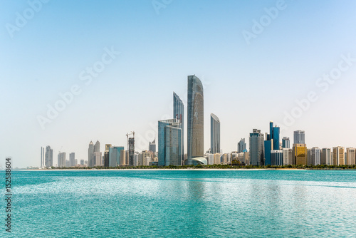 Poster Moyen-Orient Abu Dhabi cityscape in UAE