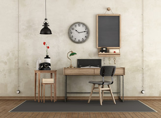 FototapetaHome workspace in industrial style