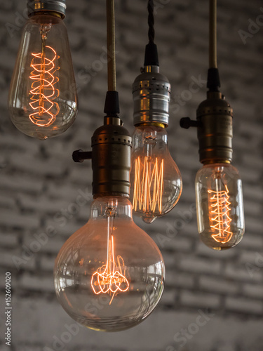 Papiers peints Retro Vintage lighting decoration