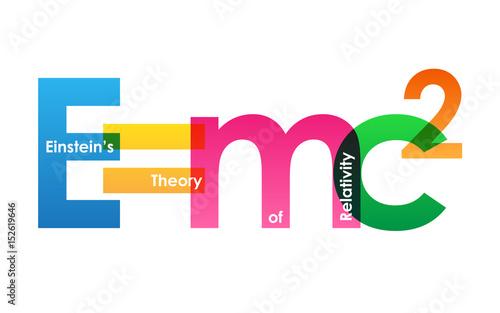 Einstein's Theory of Relativity Formula Tablou Canvas