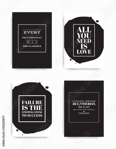 Set posters quote Slika na platnu