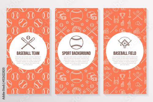 baseball softball sport game brochure template flyer vector