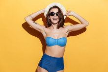 Happy Young Woman In Swimwear