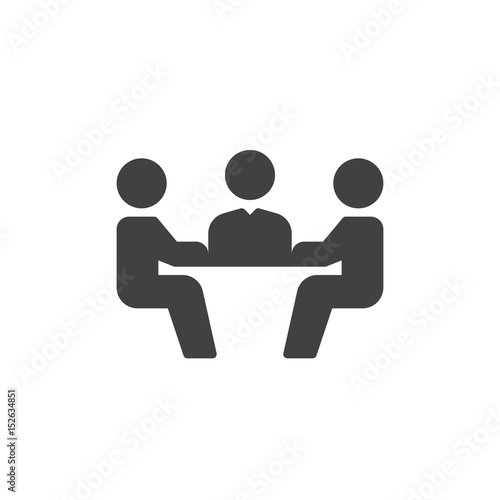 Business meeting icon vector, filled flat sign, solid pictogram isolated on white Fototapet