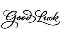GOOD LUCK Hand Lettering, Vect...