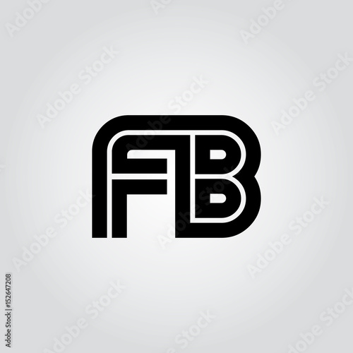 Initial Letter Fb Linked Design Logo Buy This Stock Vector And