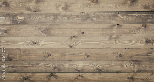 Tuinposter Hout Old planks with natural wood texture background. Vintage wooden material surface.
