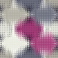 Fototapeta Vector halftone spotted background. Seamless pattern.