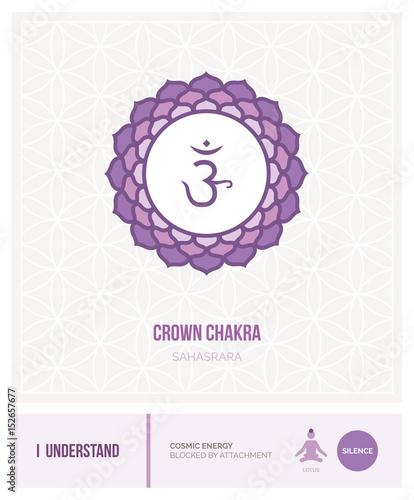 Crown chakra Sahasrara Canvas Print
