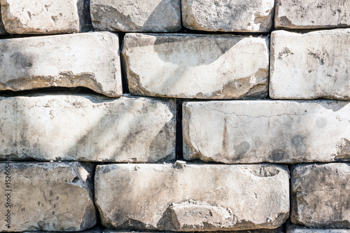 In de dag Fiets Old brickwork made of white brick. Background texture 2