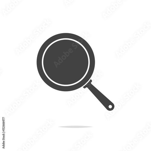 Fototapeta Frying pan icon vector