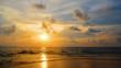 sunset beach, Evening on summer season.
