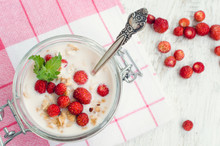 Yoghurt With Wild Strawberries