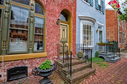 Valokuvatapetti Frederick maryland historic old houses view