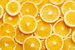 canvas print picture - orange slices background