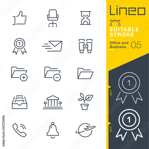 Photo Lineo Editable Stroke - Office and Business outline icons Vector Icons - Adjust