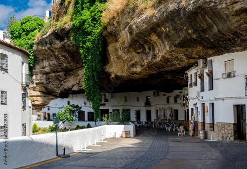 "Photo ""Setenil de las Bodegas"" Cityscape in Spain"