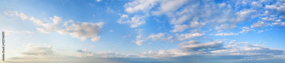 Morning blue sky panorama.