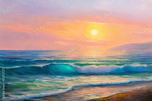 Plakat malowanie seascape