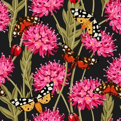 Tapeta Meadow flowers seamless