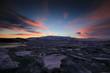 Sunset at Jokulsarlon Glacier lake, Iceland