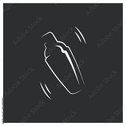 Fotografia  shaker logo. bar cocktail design background
